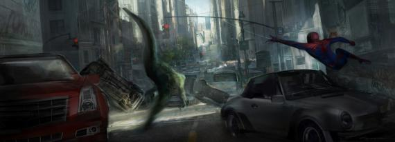 Concept art de The Amazing Spider-Man (2012), por Gloria Shih