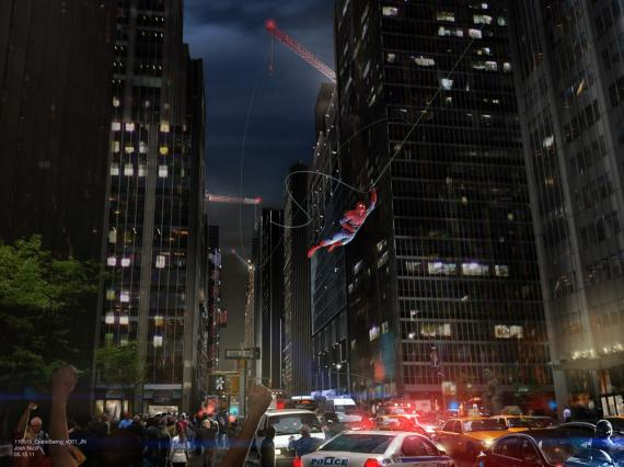 Concept art de The Amazing Spider-Man (2012), por Josh Nizzi