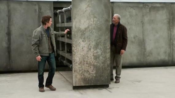 Captura del featurette de The Dark Knight Rises (2012)