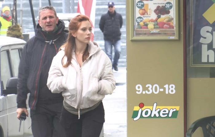 Imagen de Scarlett Johansson en el set de la película de Viuda Negra en Noruega