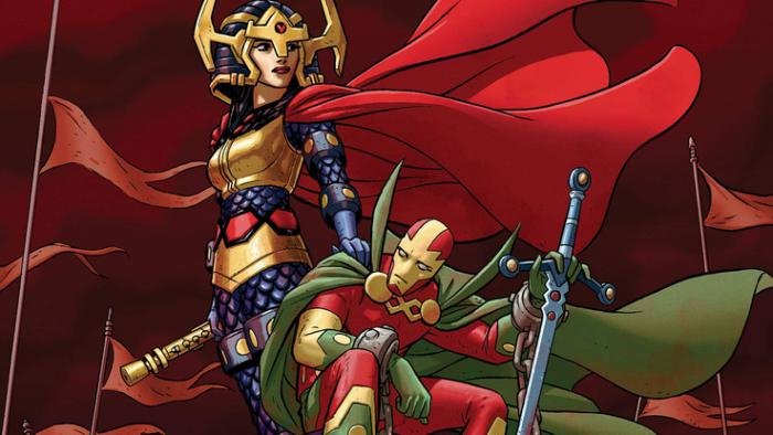 Big Barda y Mister Miracle de la etapa de Tom King y Mitch Gerads