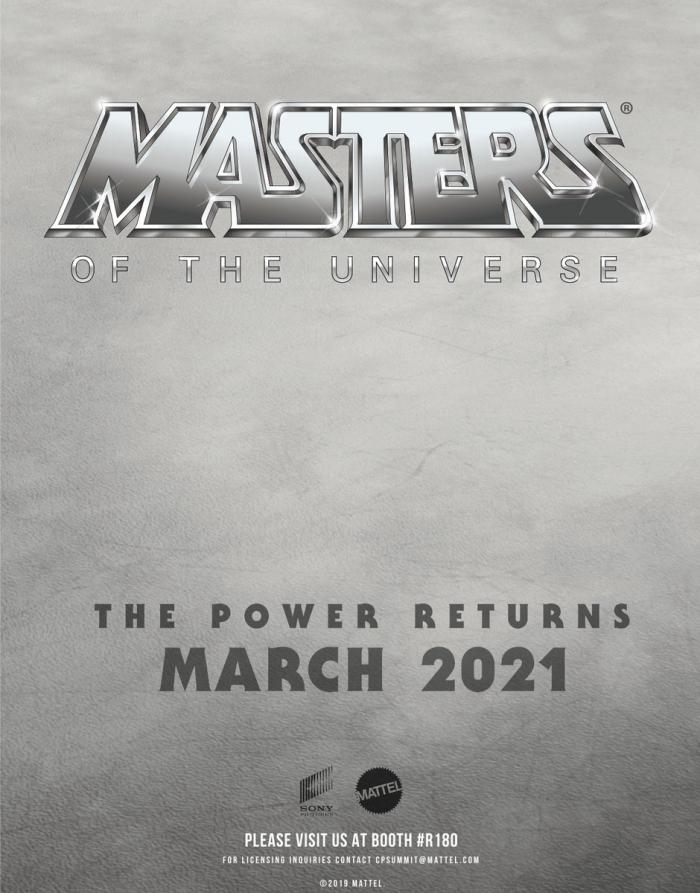 Teaser póster de Masters of the Universe (2019)