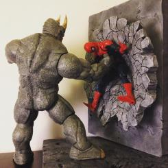 Diorama de Rhino vs. Spider-Man