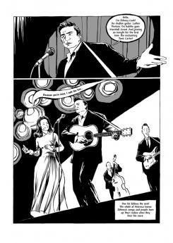 Imagen de Johnny Cash: I See a Darkness, por Reinhard Kleist