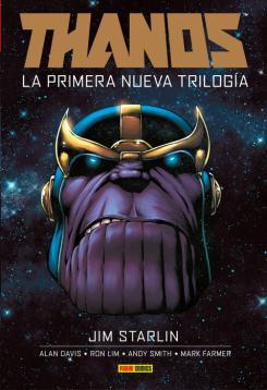 Portada de Marvel Integral. Thanos: La primera nueva trilogía