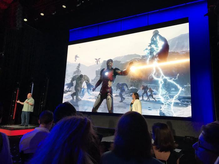 Imagen de juego de Vengadores en el E3