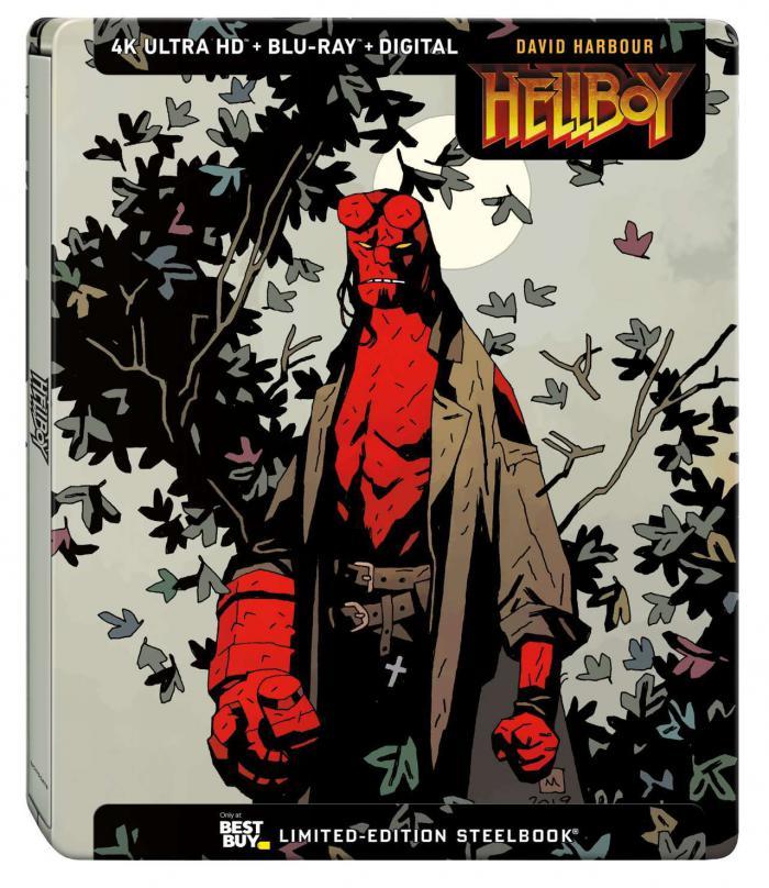 Portada de un steelbook exclusivo de Hellboy (2019)