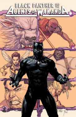 Imagen portada alternativa de Black Panther and the Agents of Wakanda #1, por Leinil Yu