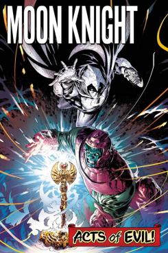 Portada de Moon Knight Annual #1, aparte de Acts of Evil