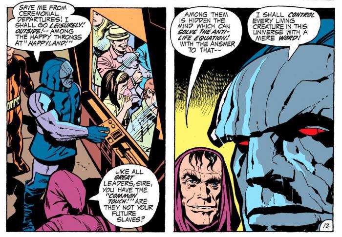 Imagen de Darkseid y Desaad en los cómics de DC