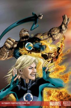 Portada del cómic Ultimate Fantastic Four (2008) #39