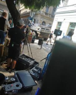 Imagen del rodaje en exteriores de Black Widow (2020)