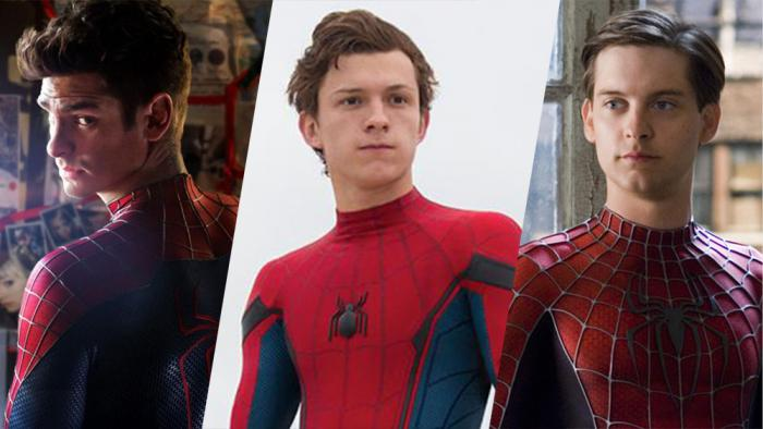 Montaje del Spider-Man de Andrew Garfield, Tom Holland y Tobey Maguire