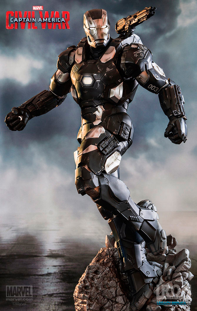 estatua de war machine de iron studios