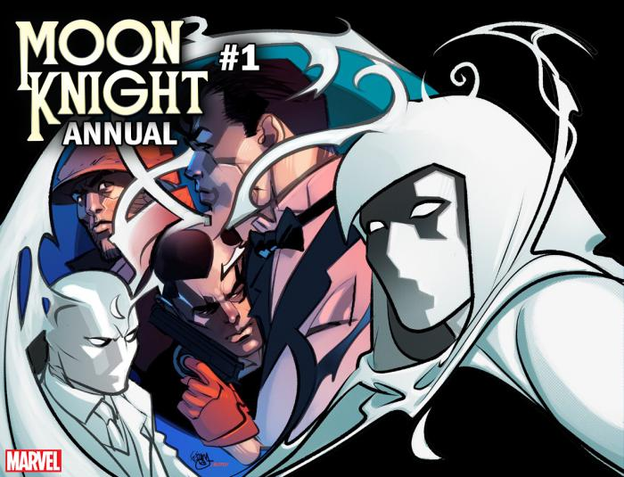 Portada alternativa relativa a Immortal de Moon Knight Annual #1