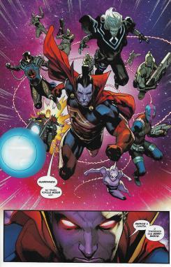 Guardianes de la Galaxia, núm. 4. Página de muestra.