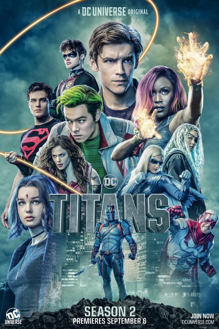 Póster promocional de la segunda temporada de Titans (2019)