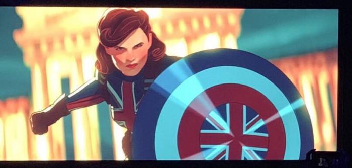 Imagen del episodio de What If...? dedicado a Peggy Carter como Captain Britania