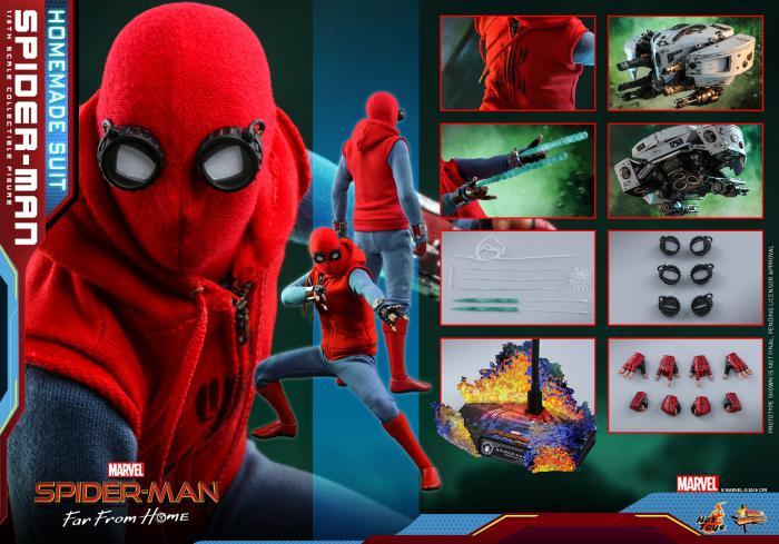 Spider-Man versión Homemade de Lejos de casa de Hot Toys