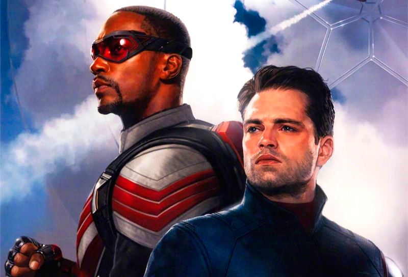 Póster de The Falcon and the Winter Soldier mostrado en la D23