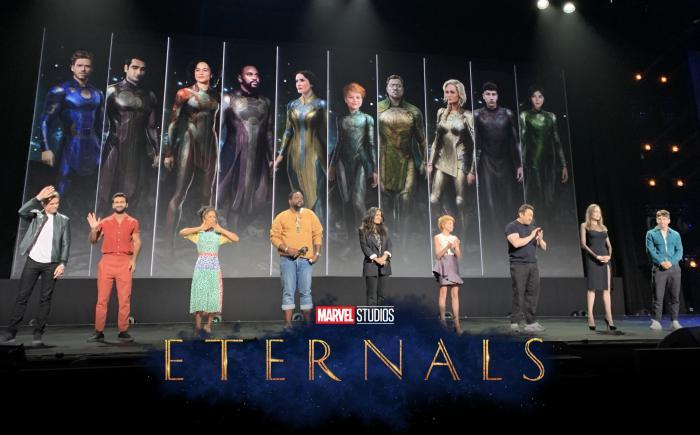 El reparto de Eternals (2020) en la D23 2019