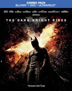Carátula provisional del Blu-ray de The Dark Knight Rises (2012)