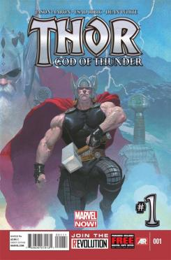 Portada del cómic Marvel Now! Thor: God of Thunder #1