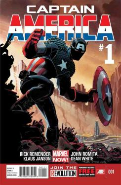Portada del cómic Marvel Now! Captain America #1