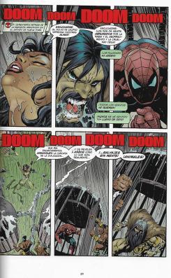 100% Marvel HC. El Asombroso Spiderman: El alma del cazador. Página de muestra.