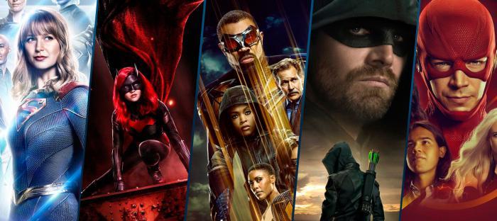 Imagen promocional del Arrowverse, temporada 2019/20