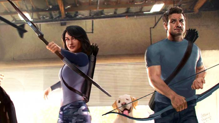 Arte conceptual de Clint y Kate Bishop en Hawkeye (2021)