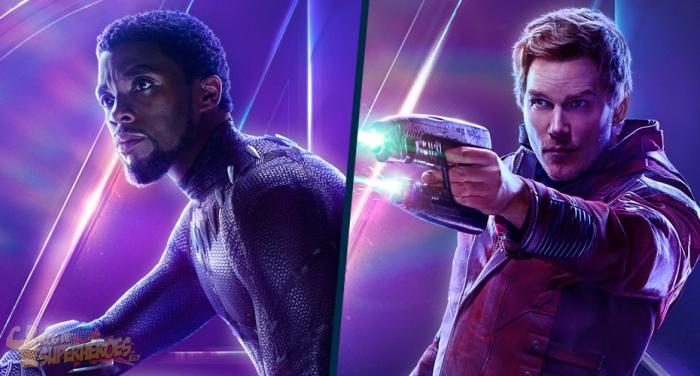 Montaje de Black Panther y Star-Lord