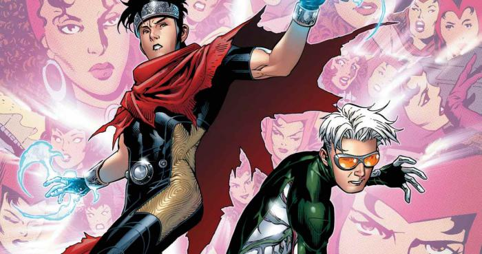 Wiccan y Speed en los cómics de Young Avengers
