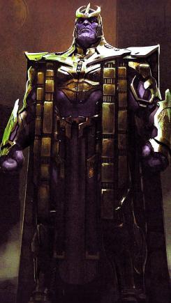 Arte conceptual del diseño alternativo para Thanos en Vengadores: Endgame (2019)