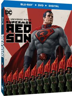 Carátula del formato Combo Blu-ray Superman: Red Son