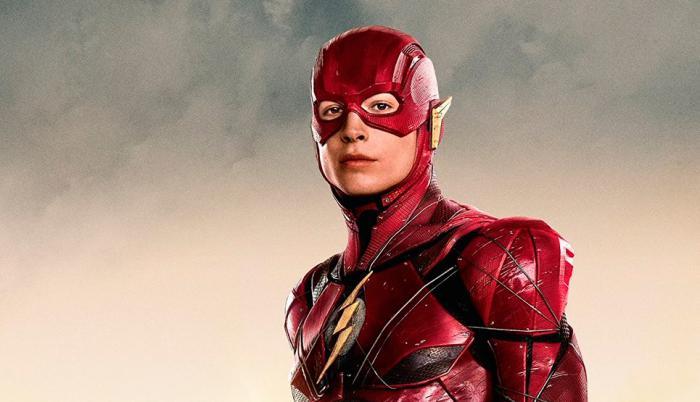 Imagen promocional de Barrry Allen/Flash en Liga de la Justicia (2017)