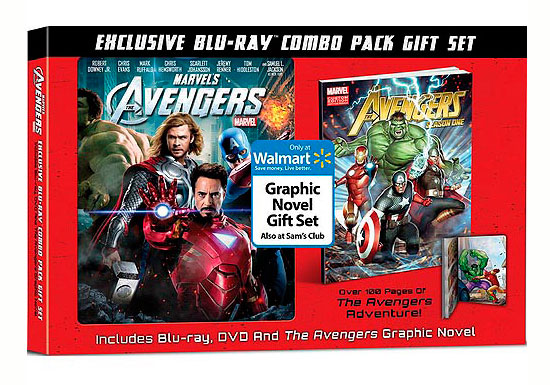 Edición especial del Blu-ray de The Avengers con la novela gráfica The Avengers: Season One