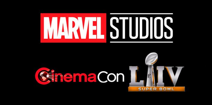 Logo de Marvel Studios, Cinemacon y Super Bowl 2020