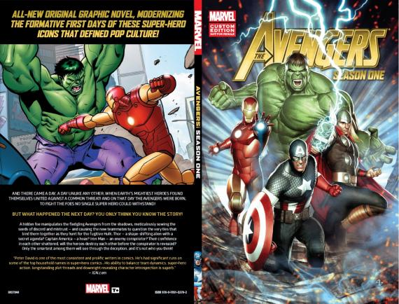 Portada de la novela gráfica The Avengers: Season One