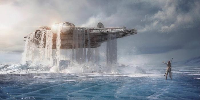 Arte conceptual de Star Wars: El ascenso de Skywalker (2019), propuesta de Colin Trevorrow (Duel of Fates)