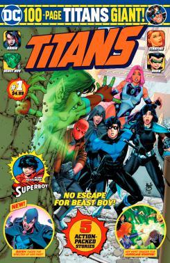 Imagen portada del cómic Titans Giant #1, arte por Paulo Siquiera