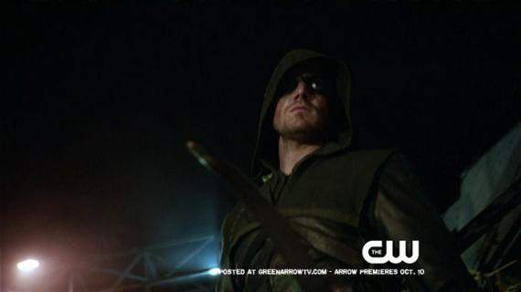 Captura de un clip del segundo episodio de Arrow