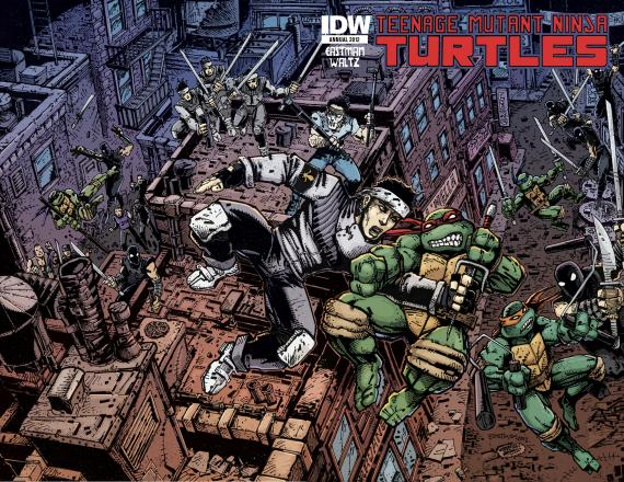 Portada del cómic Teenage Mutant Ninja Turtles Annual 2012