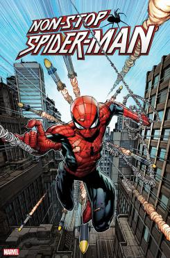 Portada de Non-Stop Spider-Man #1 (junio 2020), por David Finch