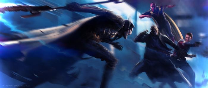 Arte conceptual de Vengadores: Endgame/Vengadores: Infinity War, por Stephen Schirle