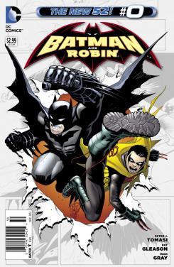 Portada del número 0 de Batman y Robin de The New 52 de DC Comics (2012)