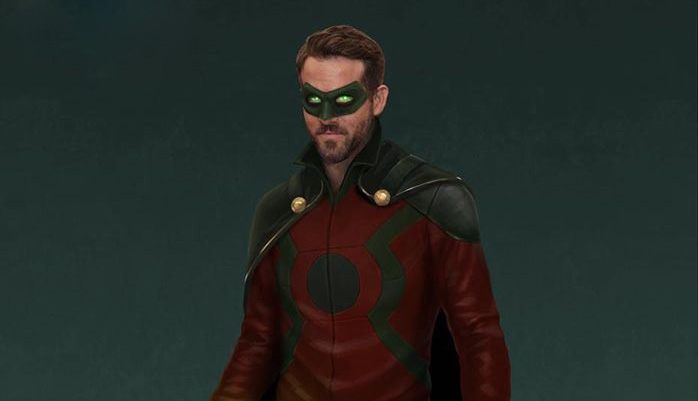 Arte conceptual de Ryan Reynolds como Alan Scott en Legends of Tomorrow, por Andy Poon