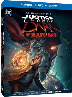 Carátula edición Blu-ray Combo Pack de Justice League Dark: Apokolips War