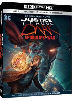 Carátula edición 4K Ultra HD Combo Pack de Justice League Dark: Apokolips War