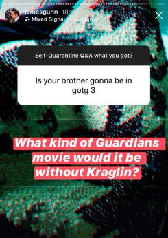 James Gunn confirma el regreso de Kraglin para Guardianes de la Galaxia 3